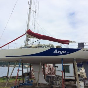 Argo fy will be skippered in the Mauritius to Durban Yacht Race by Craig Millar who is Commodore of the Point Yacht Club.