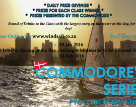 PYC Dinghy Commodore Series – Sailing Instructions