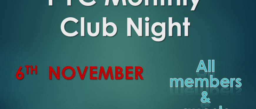 PYC Monthly Club Night Nov 2015
