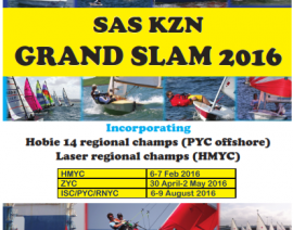 SAS KZN Grand Slam 2016 – HMYC Series, incorporating Laser KZN Champs – Notice of Race
