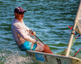 Chatting to seasoned Laser sailor, Anthony Arbuthnot