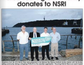Durban Sailing Community donate to NSRI