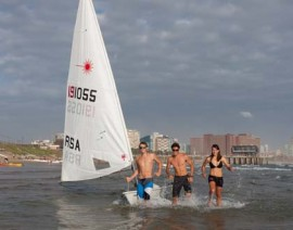 Laser Nationals – offshore Durban