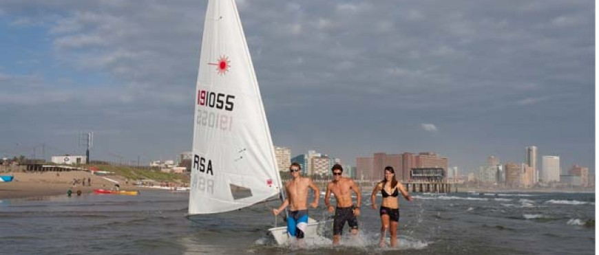 Laser Nationals – offshore Durban